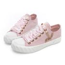 PLAYBOY 潮流簡約帆布餅乾鞋-粉-Y521299