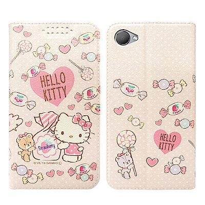 三麗鷗授權 HTC Desire 12 粉嫩系列彩繪磁力皮套(軟糖)