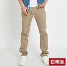 EDWIN EDGE LINE COOL 斜紋 中直筒休閒褲-男-灰褐色