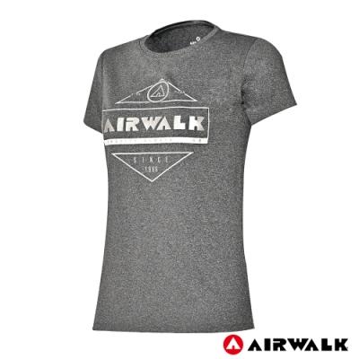 【AIRWALK】女款印花吸排短T-共兩色