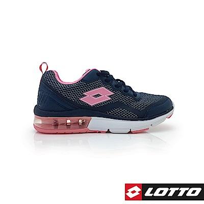 LOTTO 義大利 女 FLUX 避震氣墊跑鞋  (藍)