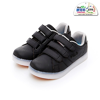 FILA KIDS 大童TPR電燈板鞋-黑 3-C409T-010