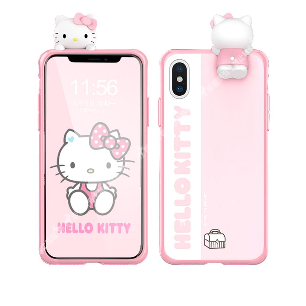 Hello Kitty iPhone Xs Max 6.5吋 3D立體手機殼(趴趴)