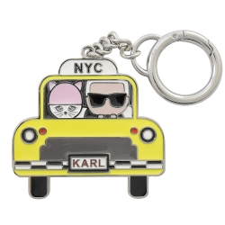 KARL LAGERFELD 計程車公仔造型金屬鑰匙圈