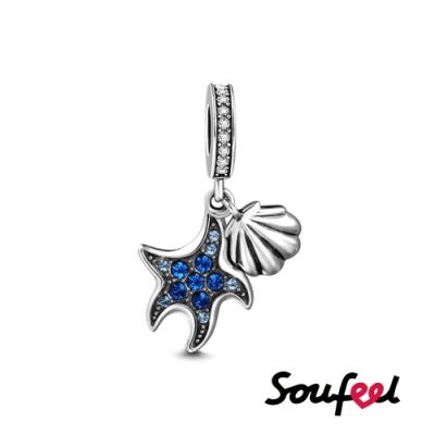 SOUFEEL索菲爾 925純銀珠飾 海星貝殼 吊飾