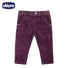 chicco-快樂學園-雙色條絨伸縮彈性長褲