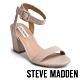 STEVE MADDEN-MALIA 甜美氣質 一字帶繫踝後鏤空粗跟涼鞋-淺粉紅 product thumbnail 1