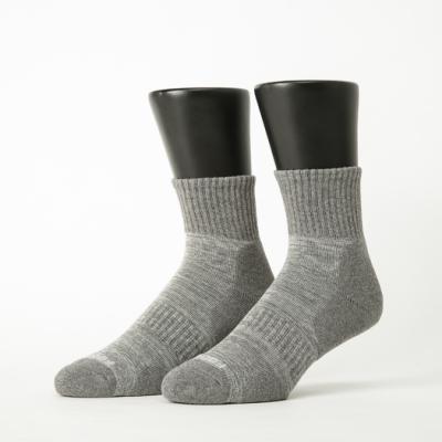 Footer除臭襪-花紗設計款氣墊運動襪-(藍*2+灰*2+咖啡*2)
