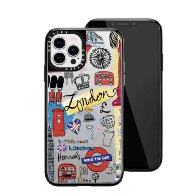 Casetify iPhone 12 Pro Max 輕量耐衝擊保護殼-倫敦印象(黑)