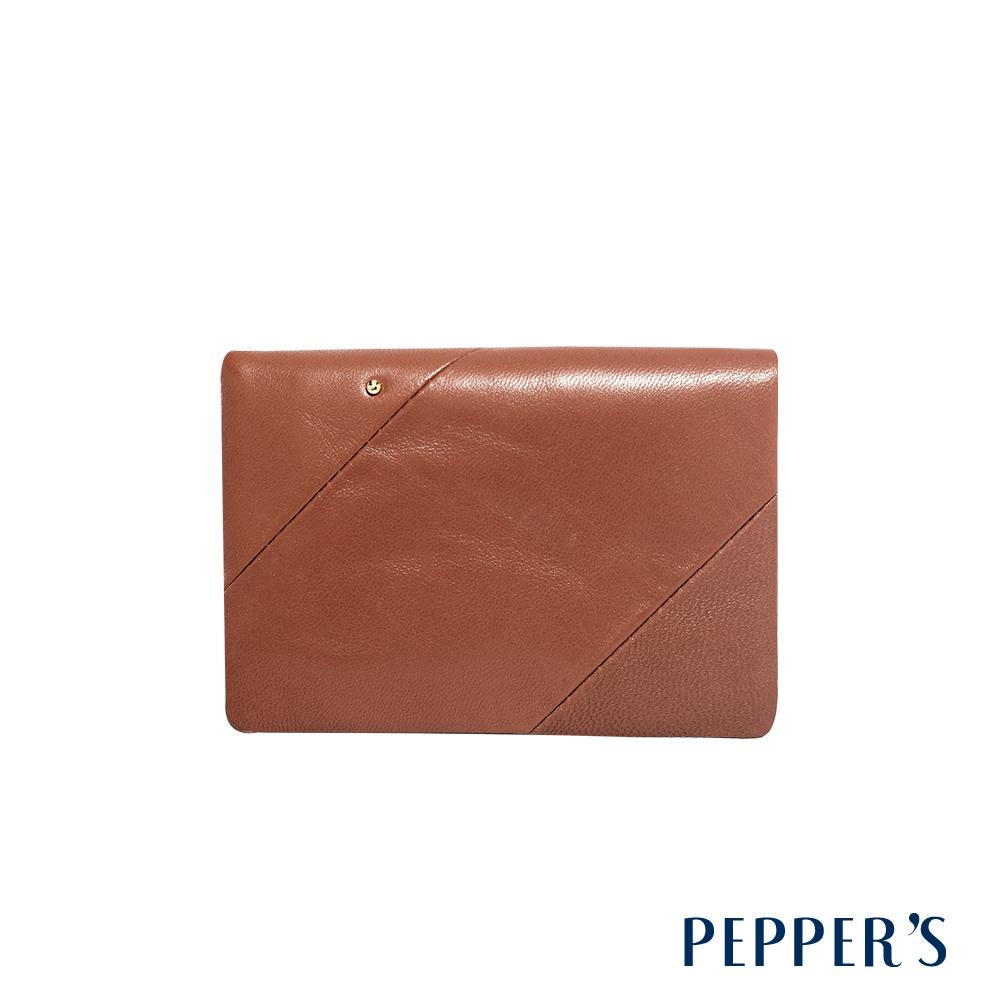 PEPPER'S Ellie 羊皮三折中夾 - 咖啡棕