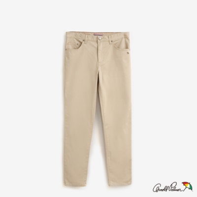 Arnold Palmer-男裝-修身直筒COOLMAX涼感色褲-卡其
