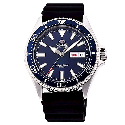 ORIENT東方200m潛水機械錶手錶RA-AA0006L-藍X黑/41.8mm