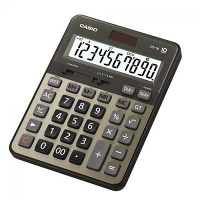 CASIO 10位數頂級專業商用桌上型計算機DS-1B-GD-黑/古銅金色