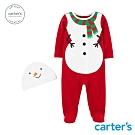 Carter's台灣總代理 聖誕雪人造型連身裝(附帽)