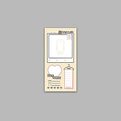 ByNACOO 貓咪日常便條紙-21每日穿搭計畫表