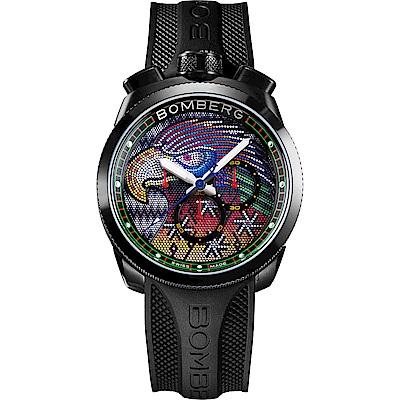 BOMBERG 炸彈錶 BOLT-68 石英彩色珍珠雄鷹錶-45mm