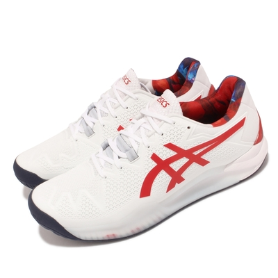 Asics 網球鞋 Gel Resolution 運動 男鞋 亞瑟士 支撐 耐用 緩衝 避震 白 紅 1041A292110