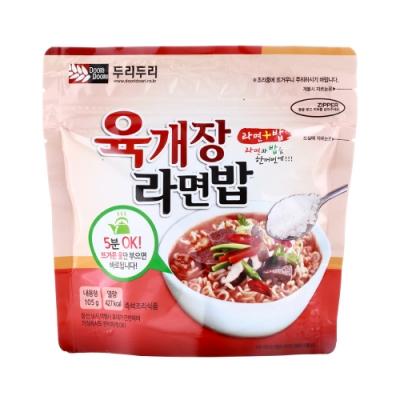 韓國Doori Doori 拉麵拌飯-辣牛肉湯味(105g)