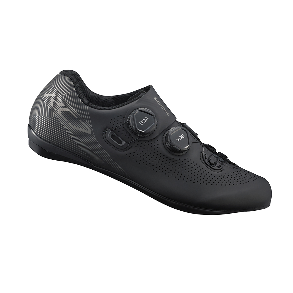 【SHIMANO】RC701 男性公路車競賽級車鞋 寬楦 黑色