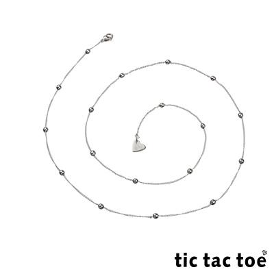 tic tac toe 白鋼造型單鍊-圓珠3mm