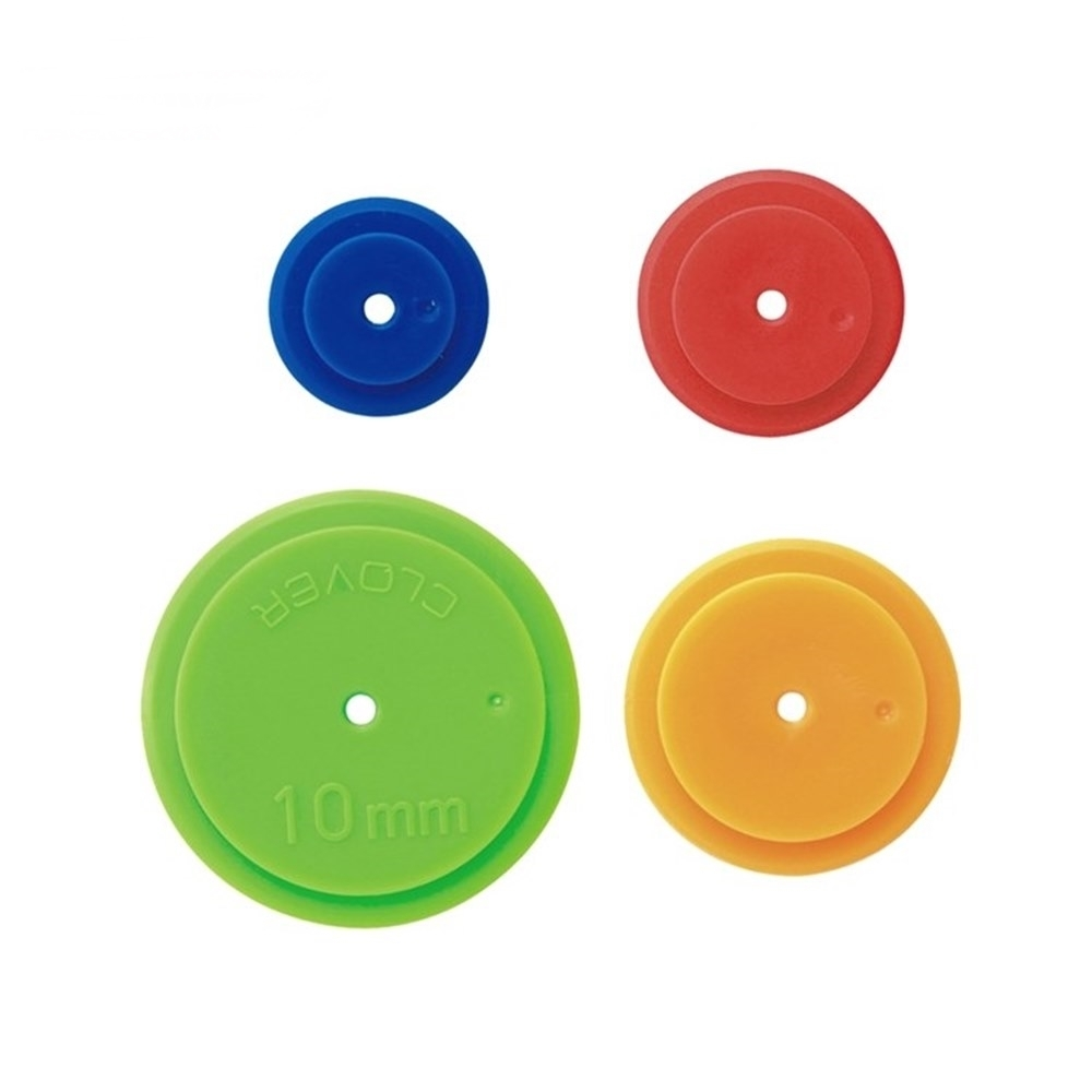 日本可樂牌Clover縫份圈縫份輪4入組57-489(圓形直徑3mm、5mm、7mm、10mm)描線輪奇異輪描線圈縫份器 適拼布縫紉手作娃娃