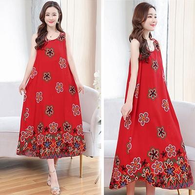 [韓國K.W.]絲棉質感活潑可愛秀氣長洋裝