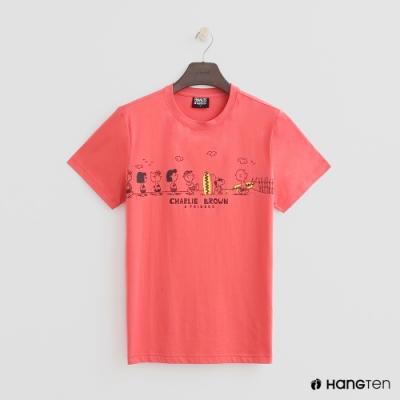 Hang Ten - 男裝 - Charlie Brown-可愛夏日圖樣短T-紅