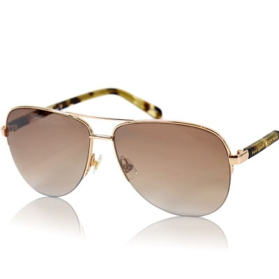 KATE SPADE 金屬金框漸層鏡片飛行員太陽眼鏡-棕色
