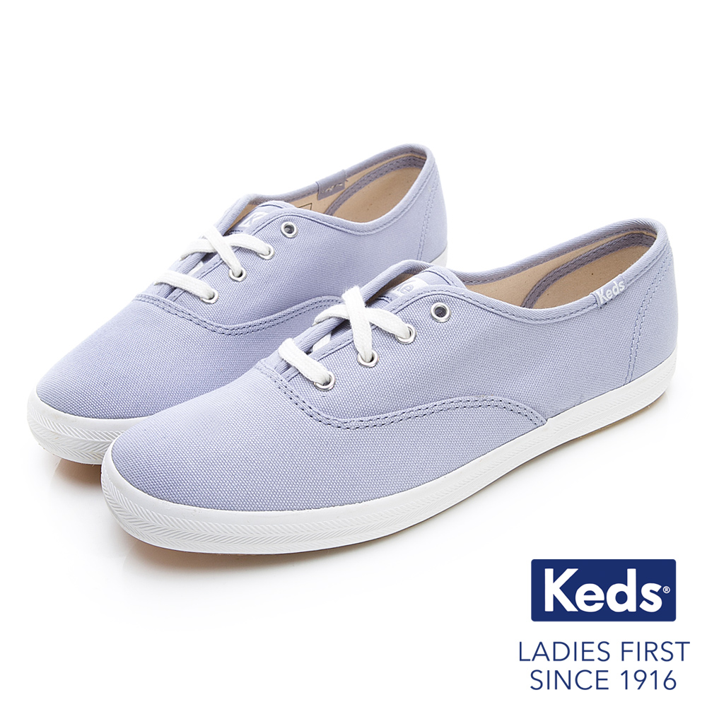 Keds CHAMPION 玩色經典綁帶休閒鞋-淡紫