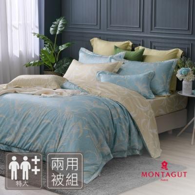 MONTAGUT-清雅冬芒-300織紗精梳棉兩用被床包組(特大)