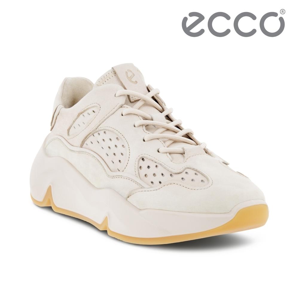 ECCO CHUNKY SNEAKER W 潮趣簡約輕量透氣休閒運動鞋 女鞋 石灰色