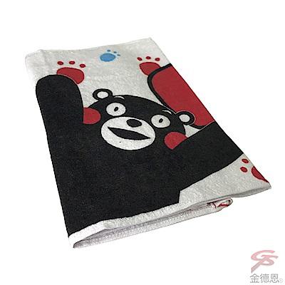 金德恩 台灣製造 兩組舒適柔軟 棉質超吸水繽紛毛巾75x33cm -日本吉祥物