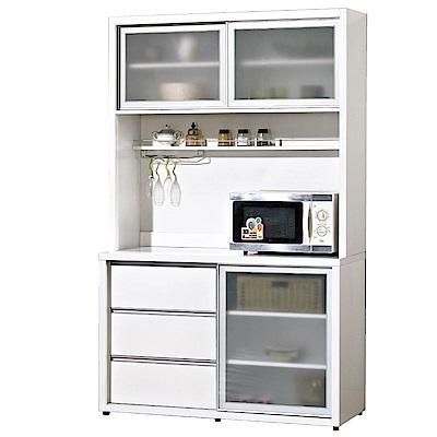 品家居 薇多恩4尺餐櫃組合(二色可選)-121x52x200cm免組