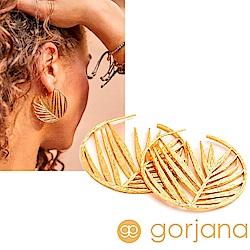 GORJANA 美國品牌 圓形剪影 加州棕櫚樹耳環 金色 Palm Hoops