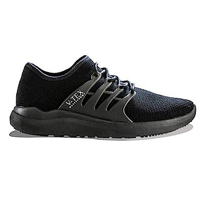 V-TEX 時尚針織耐水鞋/防水鞋 地表最強耐水透濕鞋-黑武士(女)