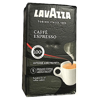 LAVAZZA CAFFE ESPRESSO 黑牌咖啡粉(真空鋁箔包6包)