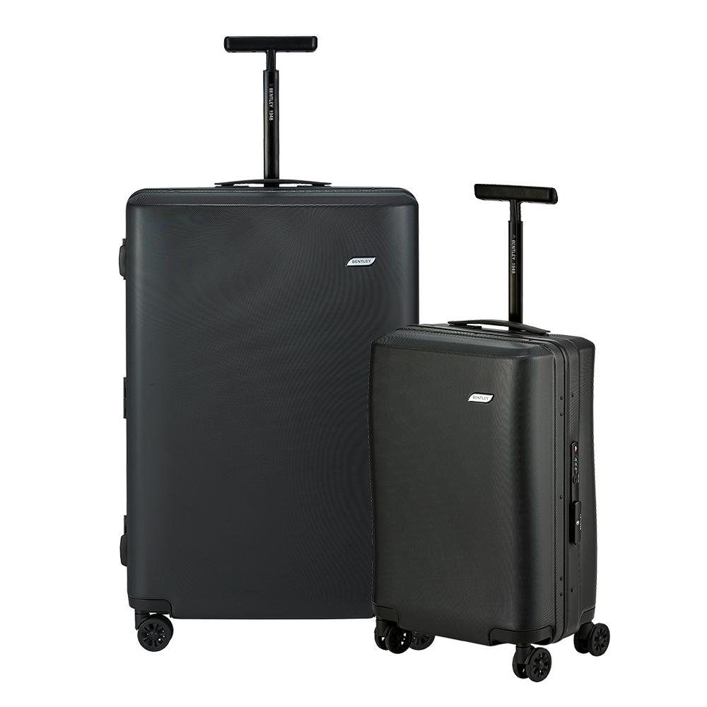 BENTLEY 28吋+20吋 PC+ABS 鋁合金拉桿尊榮硬殼行李箱 二件組-黑