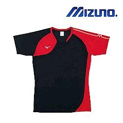 MIZUNO 美津濃 男女短袖排球T恤 黑紅 V2TA8G1696