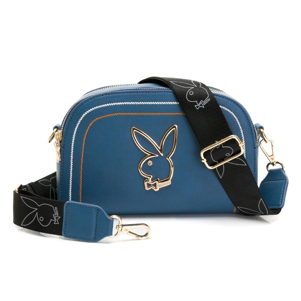 PLAYBOY-  貝殼斜背包 樂遊時尚系列 -藍色
