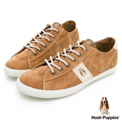 Hush Puppies LOHAS 皮質綁帶休閒鞋-棕色