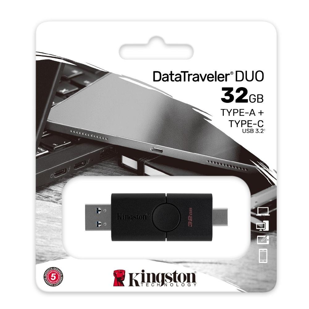 金士頓 Kingston DataTraveler DUO TypeC+A 雙介面 USB3.2 32G 隨身碟 DTDE 32GB
