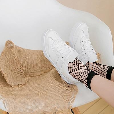 台灣製造~拼接仿皮革造型運動休閒鞋.3色-OB大尺碼