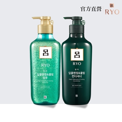 RYO 呂★全新升級 薄荷強效控油系列 400ml(洗髮精/潤髮乳)