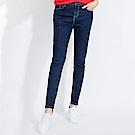 101原創 裝飾拉鍊修身九分牛仔褲-深藍