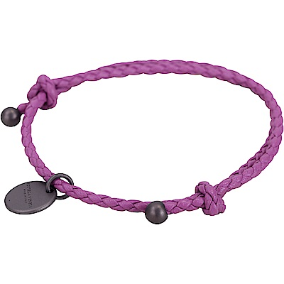 BOTTEGA VENETA 編織小羊皮調整式手環(牡丹紫)