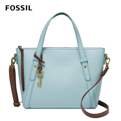 FOSSIL 母親節優惠 Avondale 真皮優雅手提側背兩用包-土耳其藍色 SHB2720480