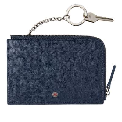 MONDAINE 瑞士國鐵 國徽系列5卡拉鍊零錢包 (附可拆式鑰匙圈) –藍