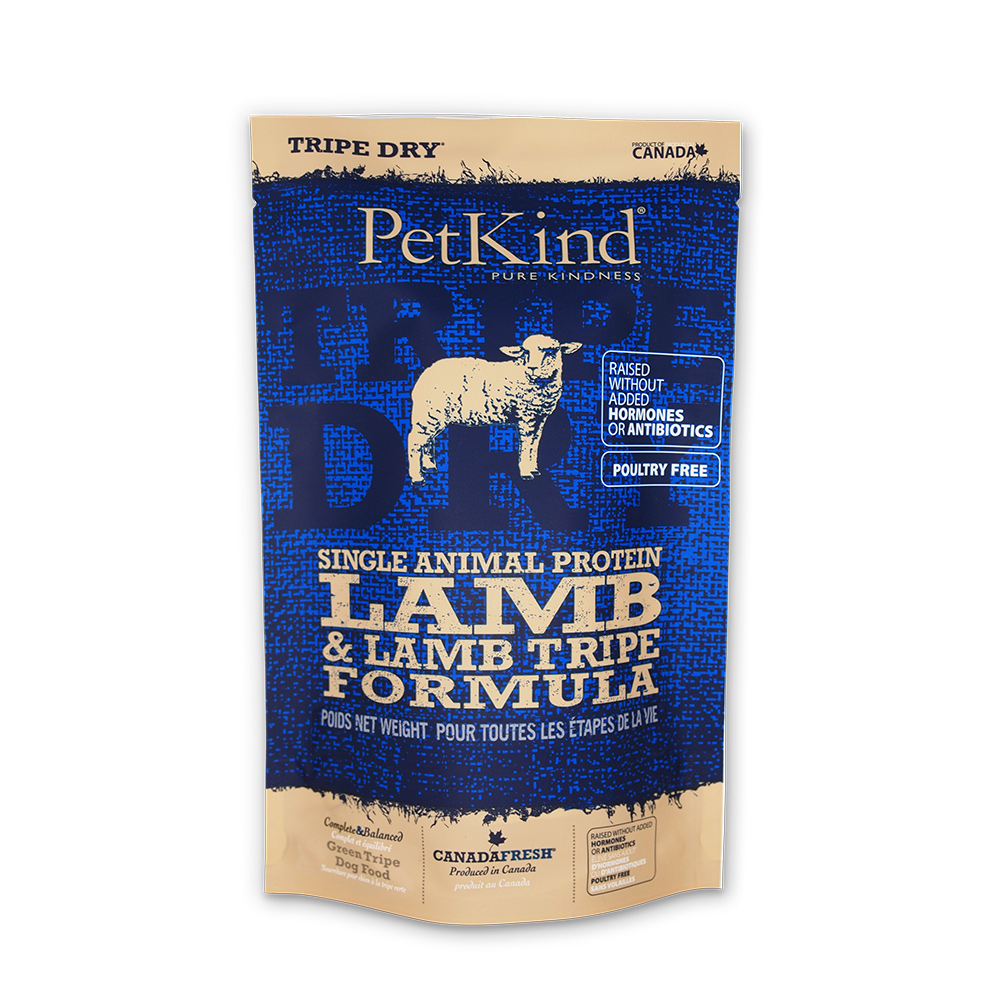 PetKind 野胃 天然鮮草肚狗糧 低敏羊肉 300克三件組
