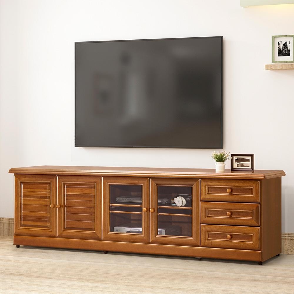 Homelike 樟木7尺電視櫃-寬212x深55x高64cm