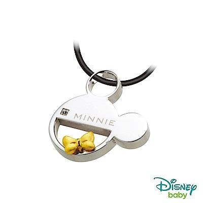Disney迪士尼系列金飾 黃金/白鋼墜子-吻鑽美妮款 送項鍊